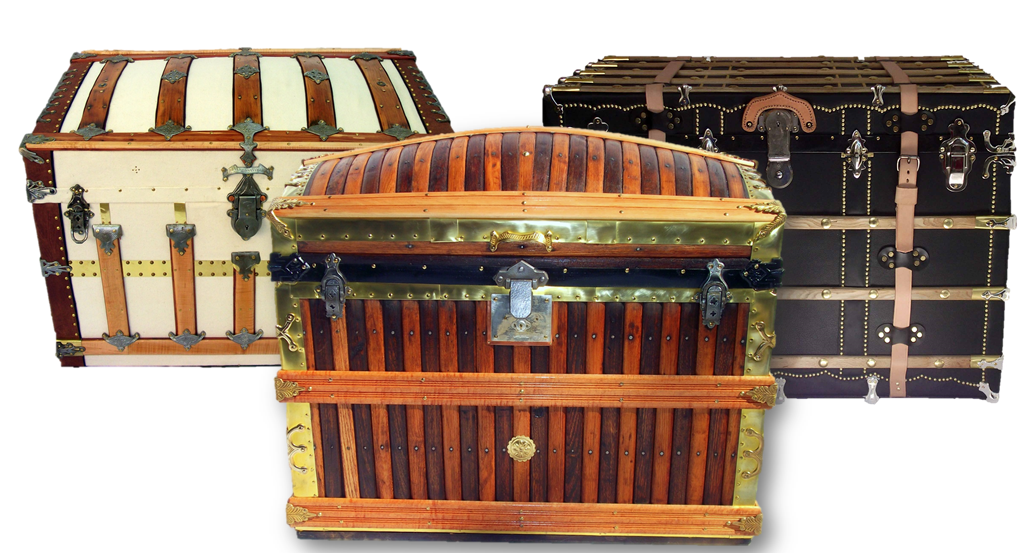 historic preservation of vintage and antique steamer and Vuitton trunks