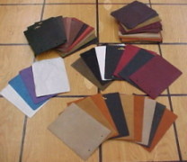 leather sample swatches