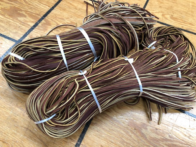 red-brown leather laces for sale
