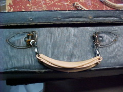 Replacement leather suitcase handle