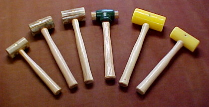 Leather and Metal Craft Mallets, Rawhide and Synthetic Mallets