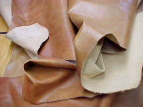thin brown leather hides for sale