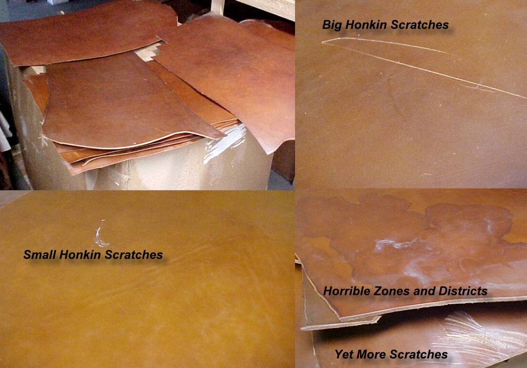 leather hides clearance sale free USA shipping