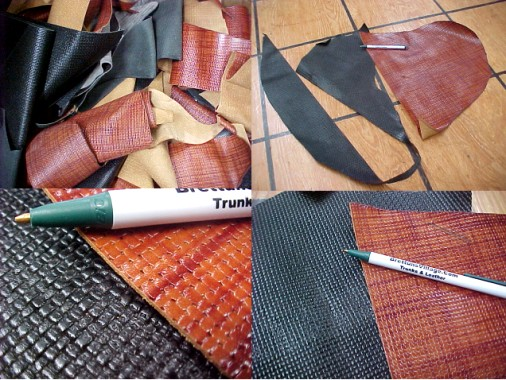 Basket Weave scrap leather for sale