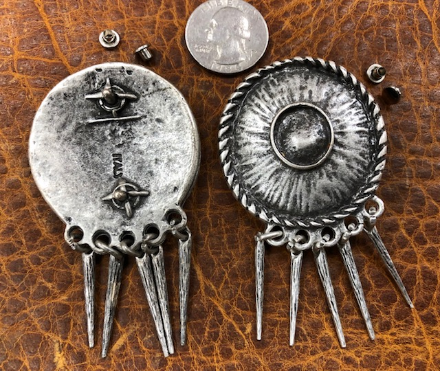 Large conchos for leather for sale