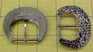 Shiny silver belt buckles for sale