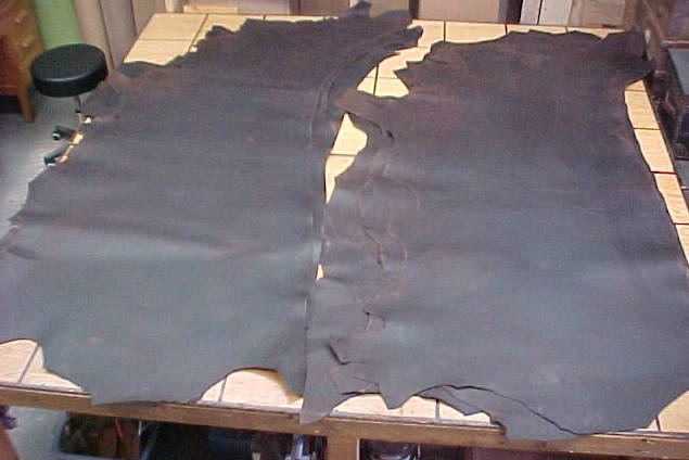 firm pull up leather hides on sale