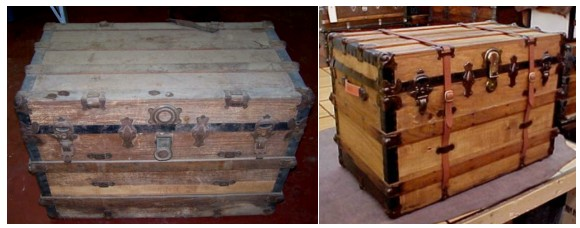 Antique trunk restoration service