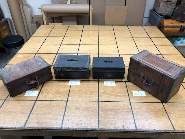 small antique trunks and boxes for sale