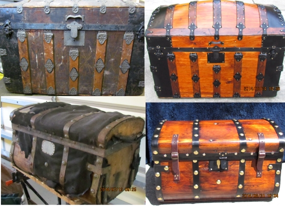 steamer trunks before and after pictures