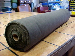burlap fabric to cover an old steamer trunk