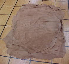 very thin tan pig skin leather hides for sale