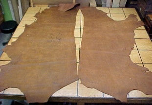 tan leather hides for sale