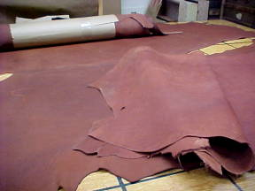 natural brown leather hides for sale
