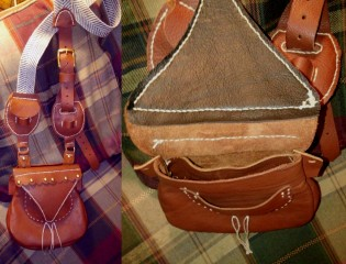 how to make a leather possibles bag