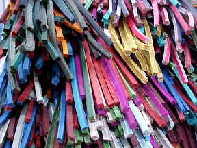 brightly colored leather laces for sale