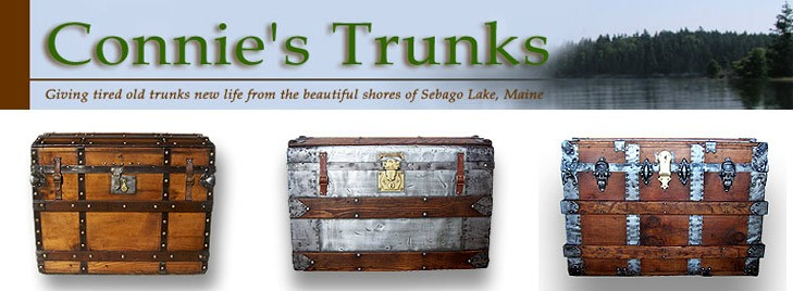 Refinished antique trunks for sale, made in Maine