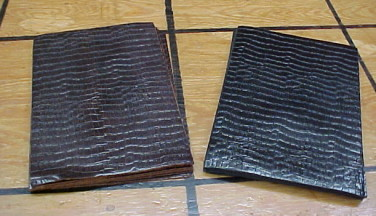 small panels of crocodile leather for sale
