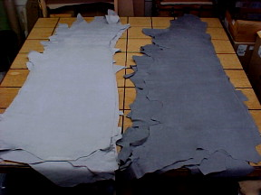 light gray leather hides for sale