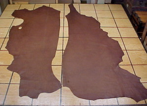 rustic brown leather hides for sale