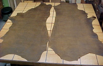 natural leather hides
