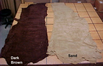 earth tone suede leather hides for sale
