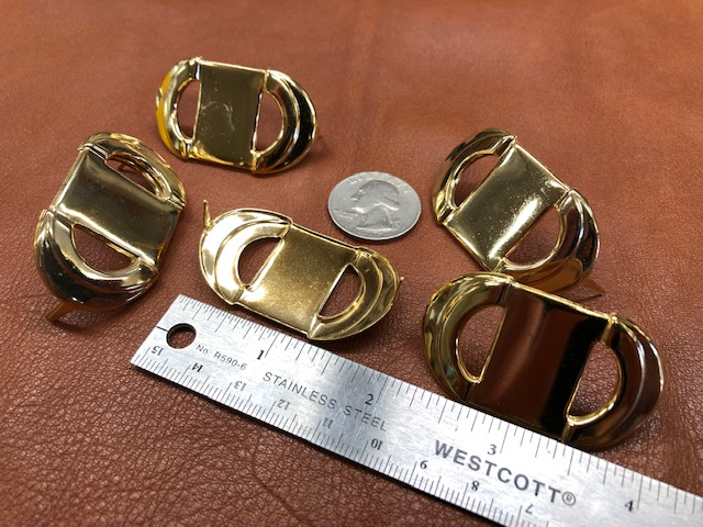 Brass decorations for purses or handbags