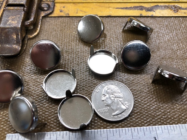 large round nickel leather spots