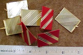 Metal decorations for purses or handbags