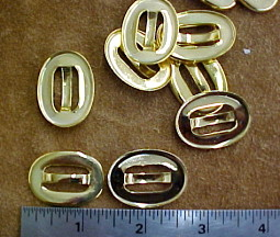 brass oval decorations for shoes or bags