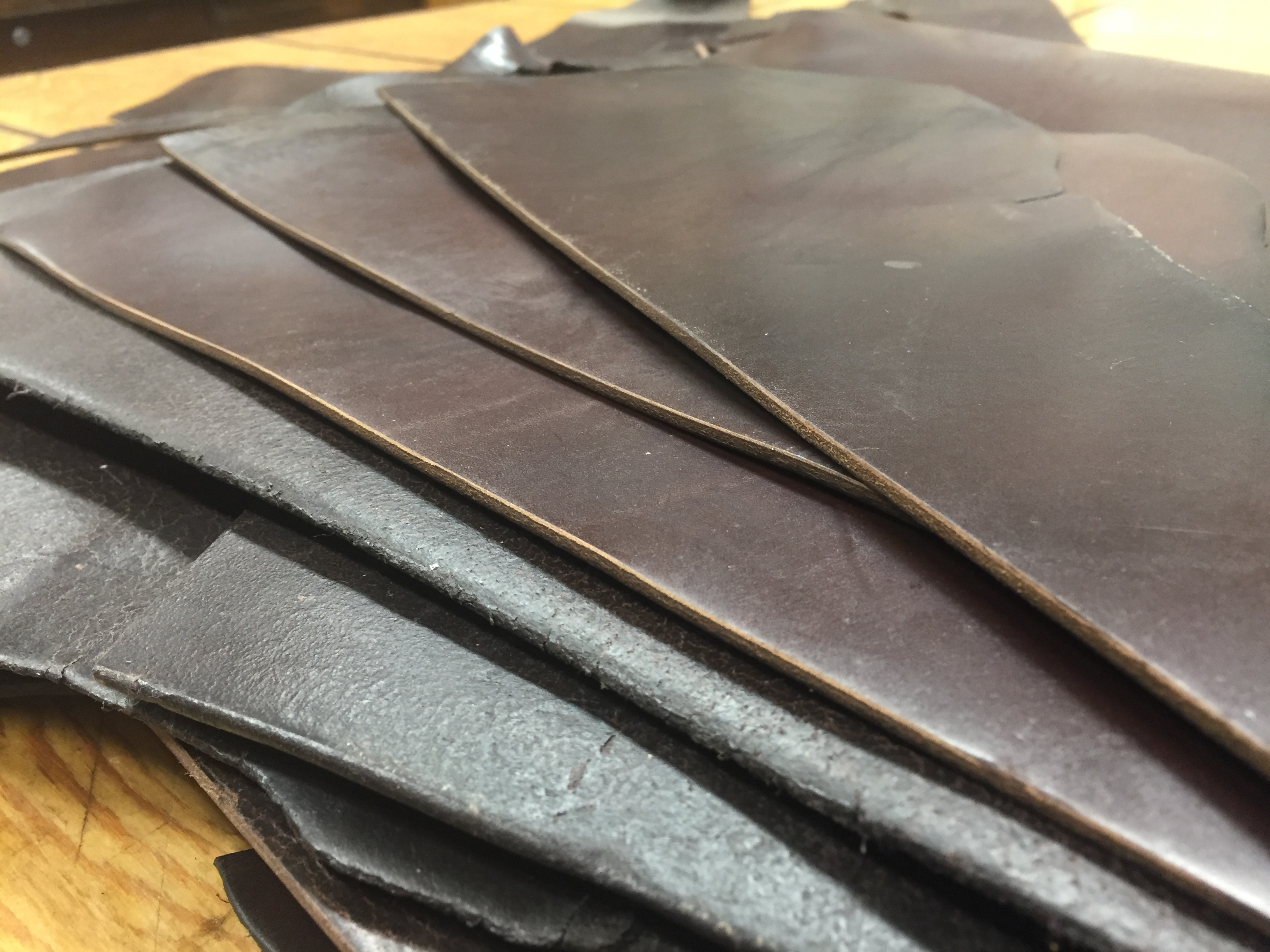 chrome excel leather pieces for sale