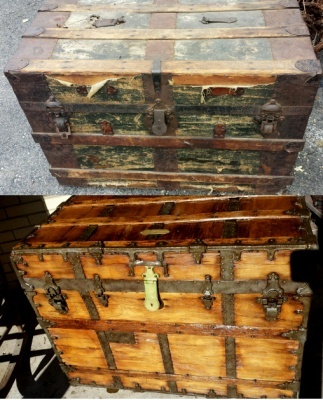 steamer trunk restoration how to
