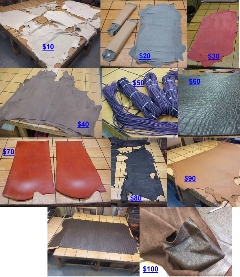 Clearance sale for leather hides with free shipping