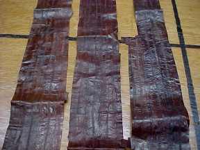 brown eel skin leather for sale