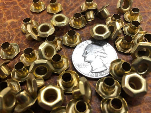 hex nut brass lacing eyelets or grommets