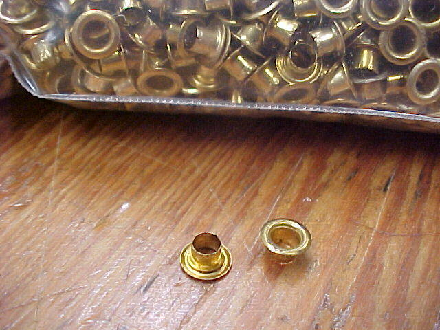 brass lacing eyelets or grommets