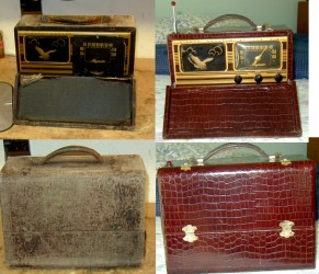 Restored vintage radio carrying case