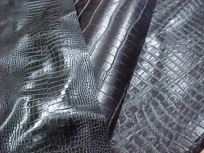 embossed alligator crocodile leather hides for sale