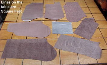 silver suede leather hides for sale