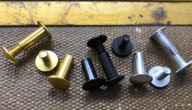 Binder Posts or Chicago Screws for sale, free shipping