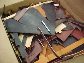 Thick leather for making harnesses and collars