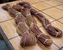 reddish brown cowhide leather laces for sale