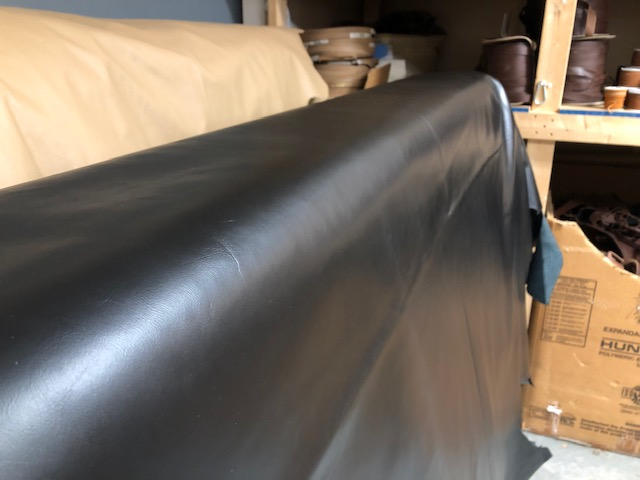 black upholstery leather for sale