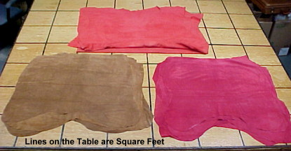Garment suede leathers for sale