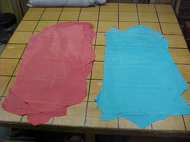 ice blue suede leather hides for sale