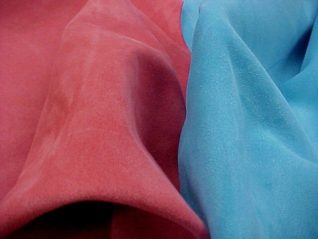 brightly colored suede leather hides for sale