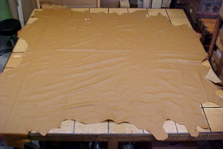 camel tan leather hides on sale