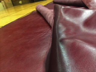 wine color chap leather on sale
