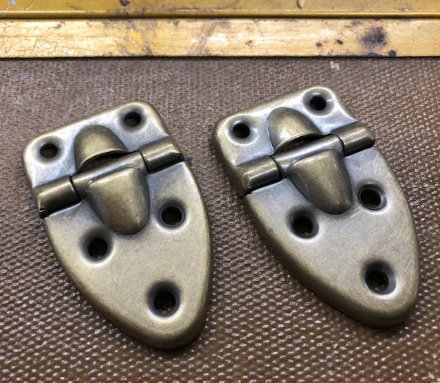 antique brass trunk lid hinges for sale