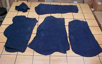 navy blue suede leather hides on sale